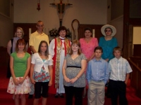 Bishop Harrison at Confirmation June 2008!