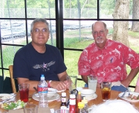 Ray & James enjoying lunch at Camp Allen