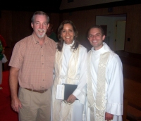 Mike Baron and M. Carol welcome The Reverend Canon John Newton